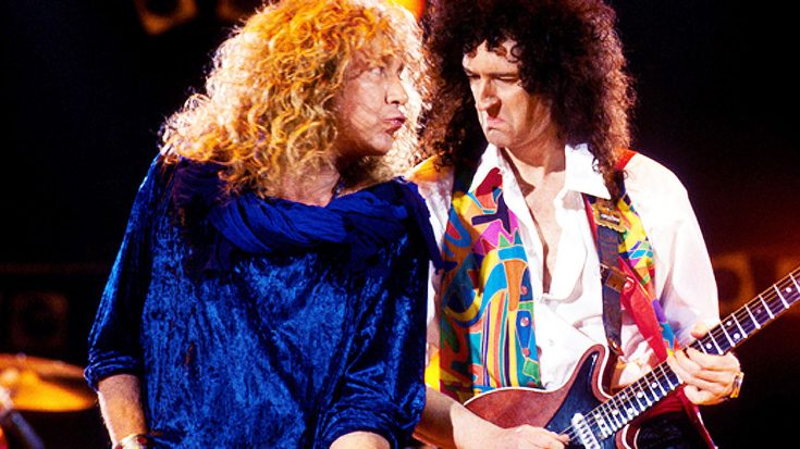 Queen Teams Up With Led Zeppelin's Robert Plant For Unforgettable Tribute To Freddie Mercury! | Society Of Rock Videos