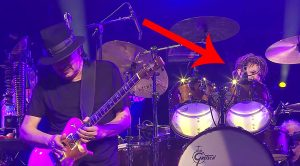 All Seems Normal At This Santana Concert, But Keep Your Eye On His Drummer…