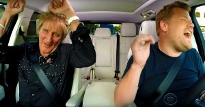 Rod Stewart's 'Carpool Karaoke' Installment Is Non-Stop Fun, But Beware – This Ain't Your Mama's Carpool