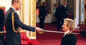 Rod Stewart Becomes Rock And Roll Royalty After Being Knighted By Prince William