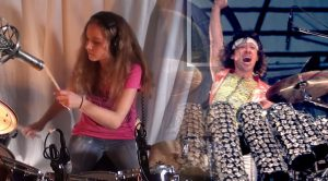 14-Year-Old Channels Her Inner Van Halen When She Crushes 'Jump' On Drums!