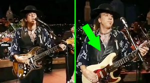 Stevie Ray Vaughan Pulls Off The Smoothest Guitar Switch Ever On Stage! Watch Closely