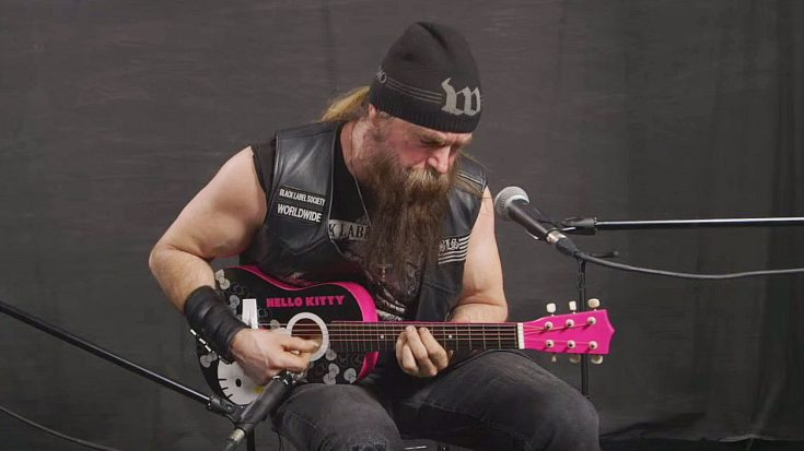 Zakk Wylde Jams A Black Sabbath Tune On Hello Kitty Guitar – Actually Works Really Well | Society Of Rock Videos