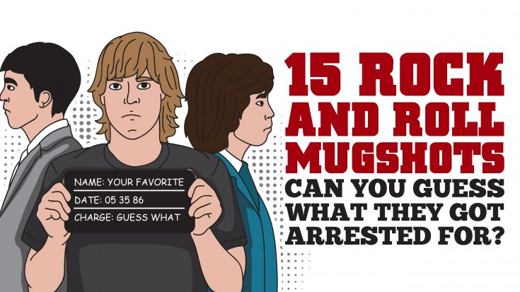 15 Rock-and-Roll Mugshots – Can You Guess What They Got Arrested For? | Society Of Rock Videos