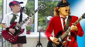 11-Year Old Dresses Up Like Angus Young, And Nails This Perfect AC/DC Guitar Cover!