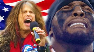 Steven Tyler Sings National Anthem— Brings This NFL Player To Tears!