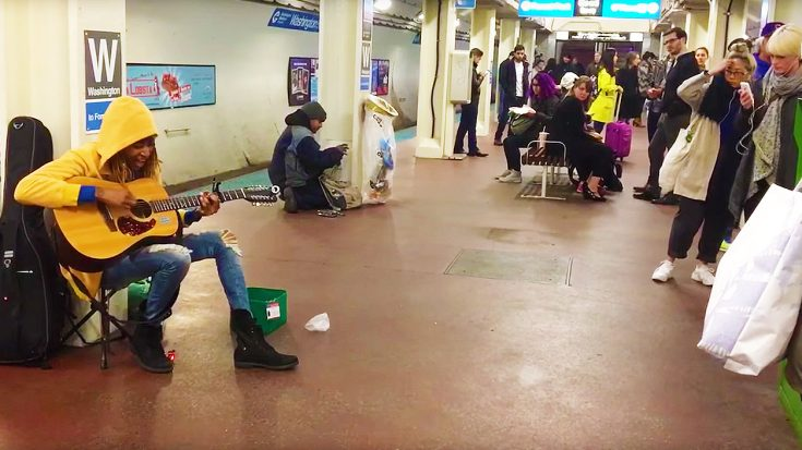 "Street Performer Stops Everyone In Their Tracks With Riveting Cover Of Fleetwood Mac's ""Landslide'! 
