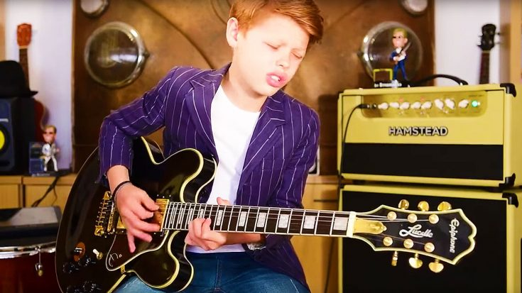 11-Year Old Toby Lee Takes This B.B. King Blues Jam To Another Level With Mind-Blowing Solo   Society Of Rock Videos