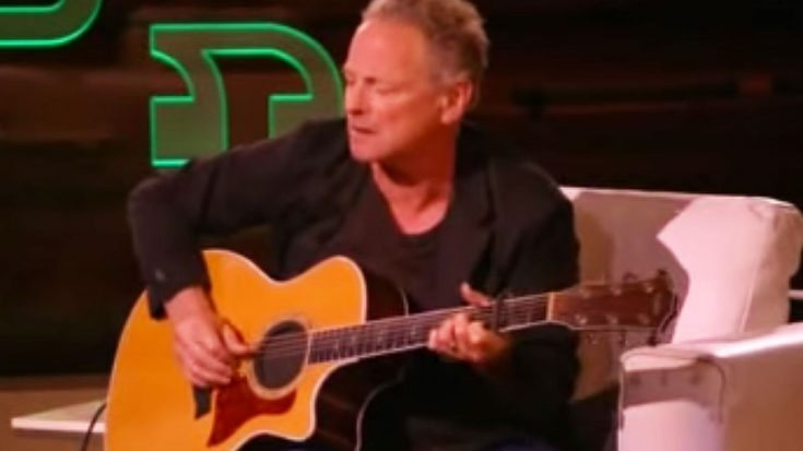 Lindsey Buckingham Is Given A Guitar On A Talk Show, But Did Something With It That No One Expected… | Society Of Rock Videos