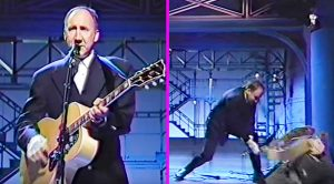 Things Get Destructive Just As Pete Townshend Finishes Playing 'Pinball Wizard' On The David Letterman Show…