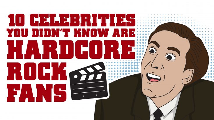 10 Celebrities You Didn't Know Are Hardcore Rock Fans   Society Of Rock Videos