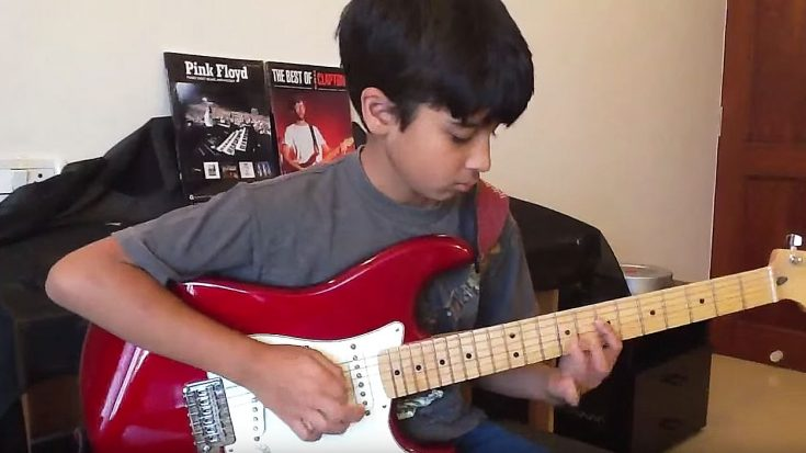 "11-Year-Old Starts Playing ""Comfortably Numb"" On Guitar And His Parents Immediately Start Filming 