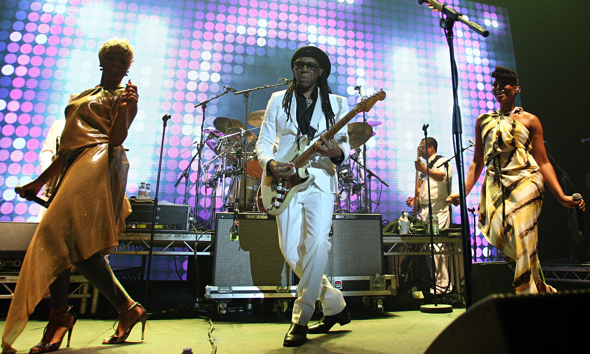 Chic and Nile Rodgers … like being steamrollered by a giant mirrorball.