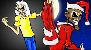 """Rock Out With This Amazing Iron Maiden Christmas-Themed Cartoon Starring Band's """"Eddie"""" Character!"""
