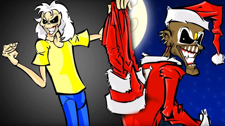 "Rock Out With This Amazing Iron Maiden Christmas-Themed Cartoon Starring Band's ""Eddie"" Character! 