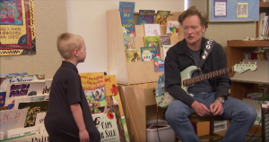Conan O'Brien Teaches Kindergarteners How To Play Blues.. And We Can't Stop Laughing!
