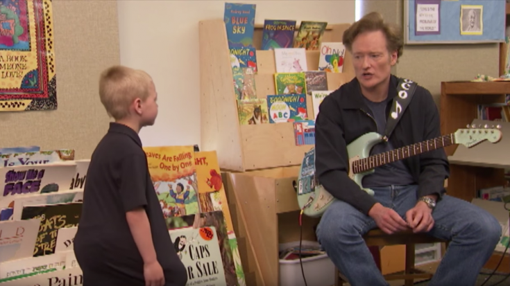 Conan O'Brien Teaches Kindergarteners How To Play Blues.. And We Can't Stop Laughing! | Society Of Rock Videos