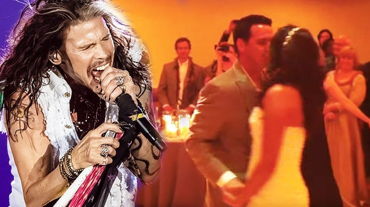 Steven Tyler Surprises Bride And Groom—Crashes Wedding To Perform Couple's First Dance! | Society Of Rock Videos