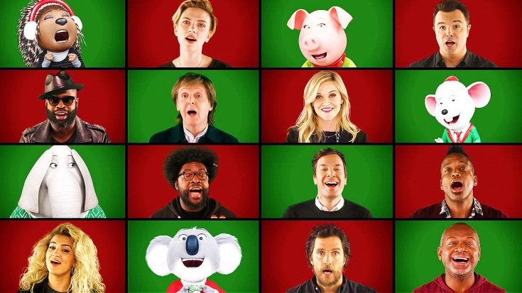 Paul McCartney And Other Celebrities Join Jimmy Fallon For Cheery Rendition Of Classic Christmas Carol! | Society Of Rock Videos
