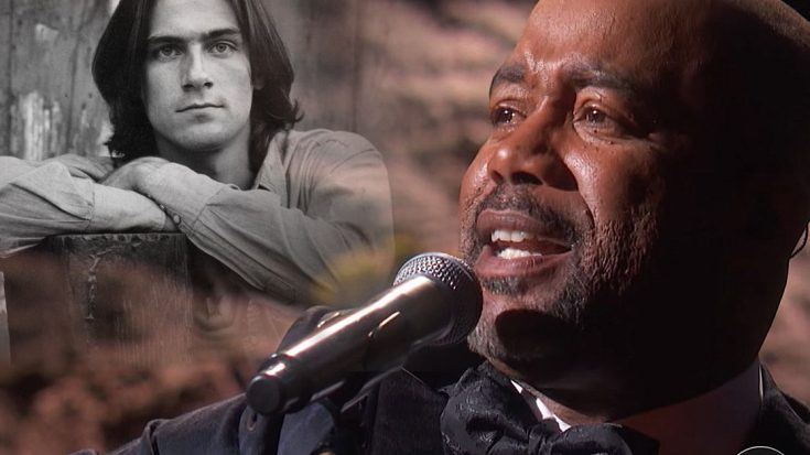 "Country Star Darius Rucker Offers Up Tearful ""Sweet Baby James"" Tribute To James Taylor 