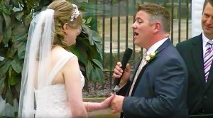 """Groom Surprises Wife At The Alter—Serenades Her With Journey's """"When You Love A Woman"""""""