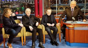 Led Zeppelin Sits Down With David Letterman And John Paul Jones Is Having Way Too Much Fun!