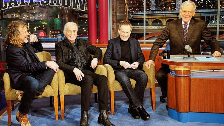 Led Zeppelin Sits Down With David Letterman And John Paul Jones Is Having Way Too Much Fun! | Society Of Rock Videos