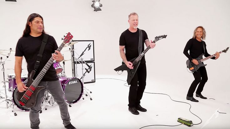 Here's 7 Minutes Of Metallica Goofing Off On The Set Of A Music Video Shoot! | Society Of Rock Videos