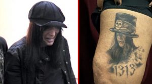 Nikki Sixx Get's Mick Mars' Portrait Tattooed On His Leg And His Reaction Is Priceless!