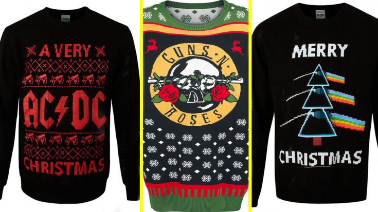 7 Ugly Rock Christmas Sweaters Guaranteed To Make You An Office Party Hit This Season | Society Of Rock Videos