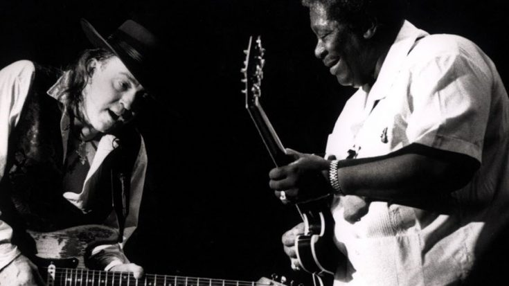 """Teacher Meets Student As B.B. King And Stevie Ray Vaughan Absolutely Slay """"Texas Flood""""   Society Of Rock Videos"""