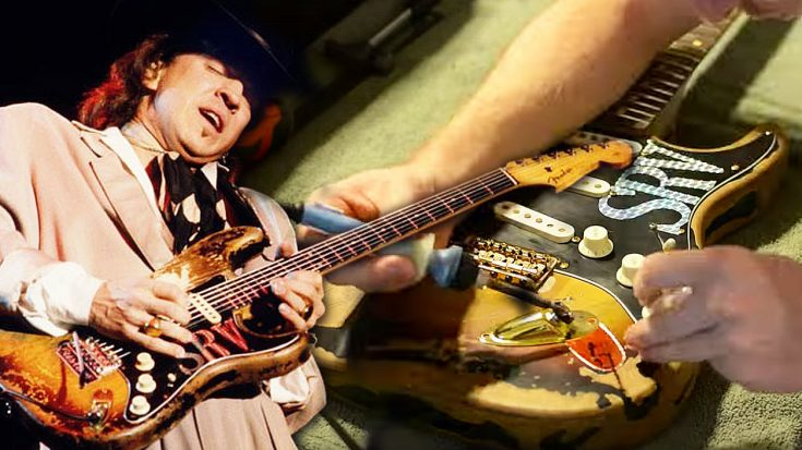 Stevie Ray Vaughan's Guitar Is Built To An Exact 'T' In Strangely Addicting Crafting Video! | Society Of Rock Videos