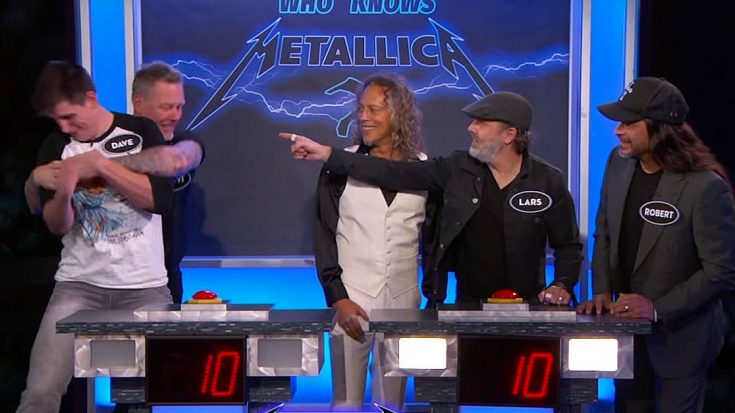 James Hetfield Is Absolutely Hilarious In Metallica's Late Night Trivia Battle Against Superfan | Society Of Rock Videos