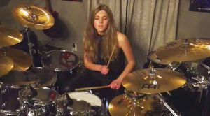 "13-Year Old Girl Crushes Mind-Blowing Cover Of Metallica's ""Moth Into Flame""!"