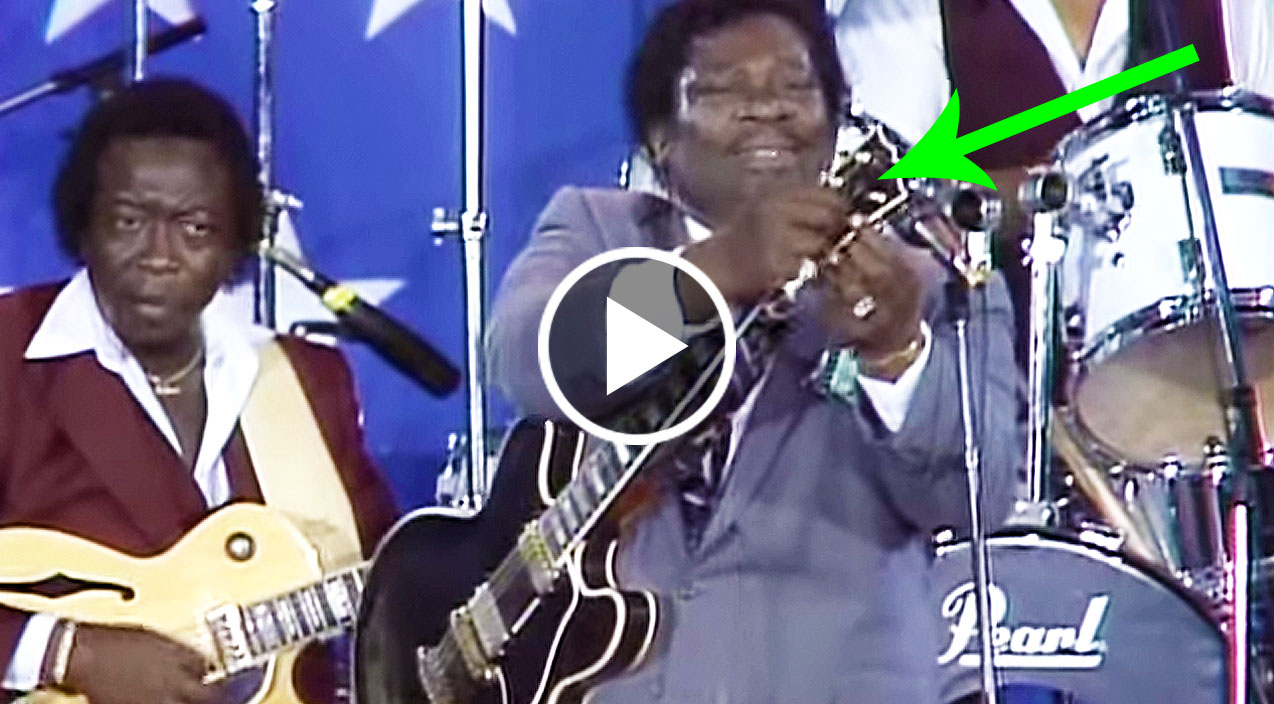 b b king breaks string mid song and changes it on stage so quickly you ll hardly even notice. Black Bedroom Furniture Sets. Home Design Ideas
