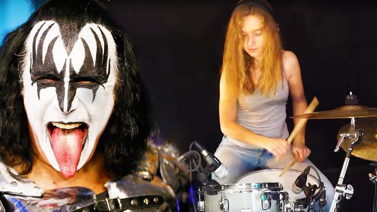 14-Year Old Sina Will Leave You In Awe With Her Phenomenal Chops On This KISS Drum Cover! | Society Of Rock Videos