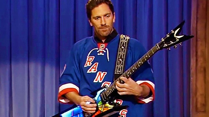 Hockey Player Trades In Stick For Guitar, And Shreds Insane Solo That Leaves The Crowd Speechless! | Society Of Rock Videos
