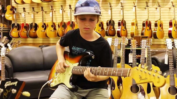 Kid Wanders Into Guitar Shop, Starts To Play, And Leaves Everyone With Their Jaws On The Floor! | Society Of Rock Videos