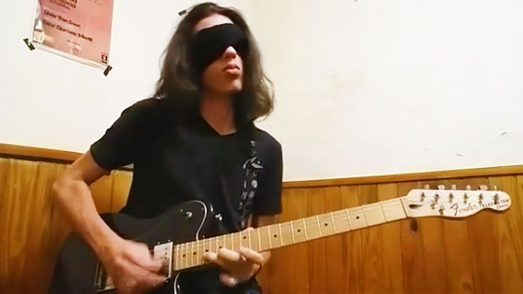 Young Guitarist Shreds Unbelievable Guitar Solo Blindfolded—This Is Absolutley Insane!