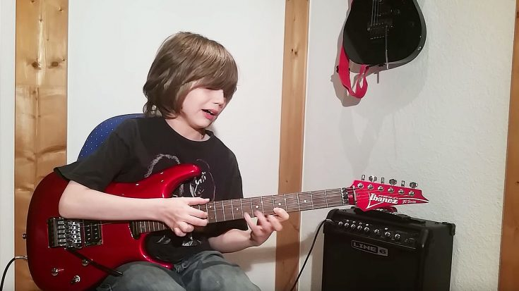 "12-Year-Old Boy Nails ""Eruption"" Solo To Perfection – You Have To See It To Believe It 