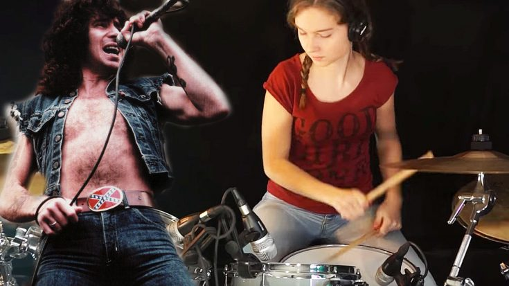 Teenage Girl Will Leave You Stunned With Amazing Drum Cover Of AC/DC's 'T.N.T.'! | Society Of Rock Videos