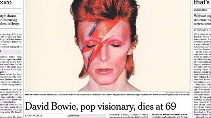 January 10, 2016: David Bowie Dies At 69, And His Death Sends Shockwaves Across The World | Society Of Rock Videos