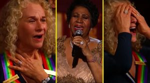 "Carole King's Reaction To Aretha Franklin's ""A Natural Woman"" Performance Is Priceless"