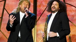 James Corden Rocks Sweet Mullet For Hilarious Remake Of Michael Bolton's Iconic Grammys Duet