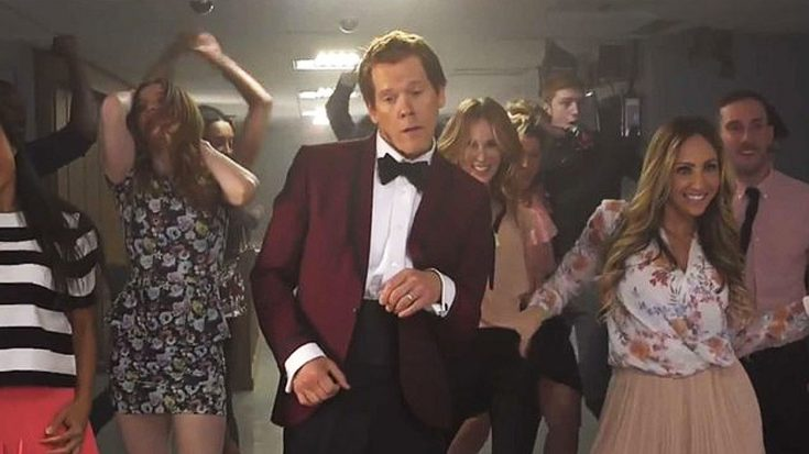 Kevin Bacon Resurrects Iconic 'Footloose' Entrance On The Tonight Show And The Crowd Loses It | Society Of Rock Videos