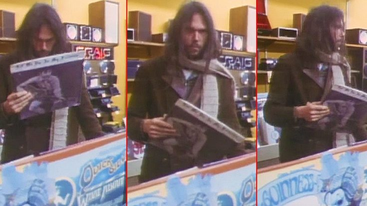 watch neil young find a bootleg of his album and take it from record shop video sofa king. Black Bedroom Furniture Sets. Home Design Ideas