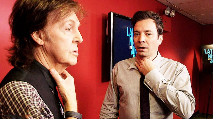 "Paul McCartney & Jimmy Fallon ""Switch Voices"" Backstage In Hilarious TV Segment! 