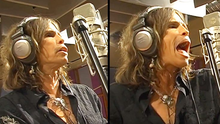 Steven Tyler Belts It Out Like Nobody's Business In Rare Piece Of Studio Footage! | Society Of Rock Videos