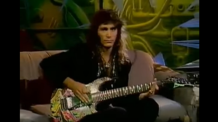"A Look Back At Steve Vai's Guesting On The ""Headbangers Ball"" In 1990 