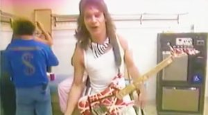 Rare Footage Of Eddie Van Halen Backstage Surfaces—You Have To Hear These Insane Guitar Effects!